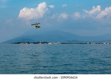 Flying trike on Lake Garda.