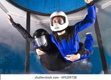 Flying in a wind tunnel