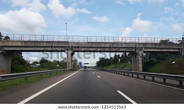 Flyover Above Sri Lanka Expresswayhighway Solution Stock Photo (Edit