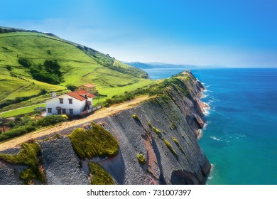 flysch in Zumaia coatline in the Basque Country
