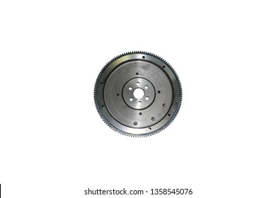 flywheel damper for automotive diesel engine on a white background. car parts