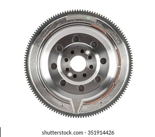flywheel damper for automotive diesel engine on a white background. car parts