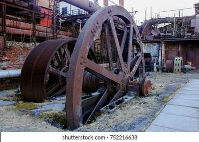 Flywheel of a metallurgical plant