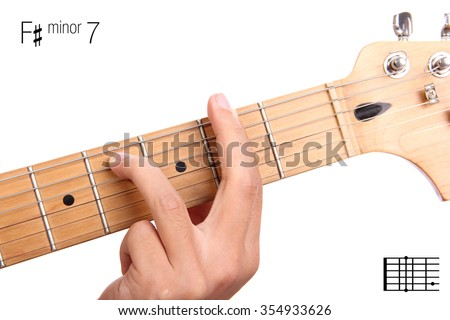 Fm 7 Minor Seventh Keys Guitar Tutorial Stock Photo (Edit Now ...