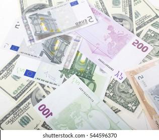lot fo americans dollars cash background, diverse money worldwide