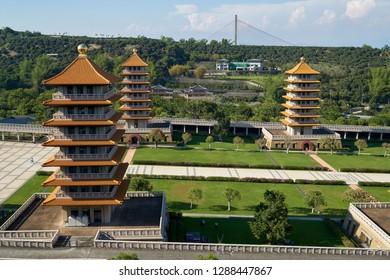 Fo Guang Shan Temple and Buddha Memorial Center in Dashu District, Kaohsiung, Taiwan.