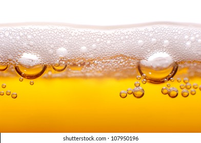 Foam and bubbles of beer to the project.