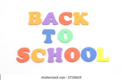 Foam letters spell Back to School.