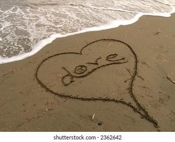 The foam of love in Cyprus beach