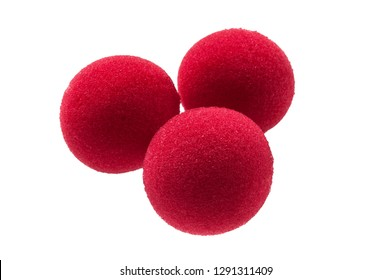 foam rubber balls for magician isolated on white