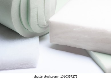 foam rubber on a white background close up