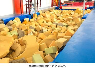 Foam rubber pool. Sport equipment