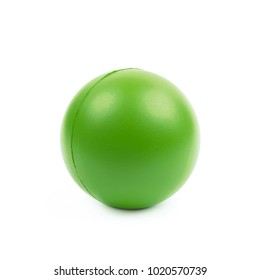 Foam stress ball isolated over the white background