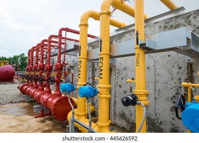 Foam system and water system for fire protection system in power plant