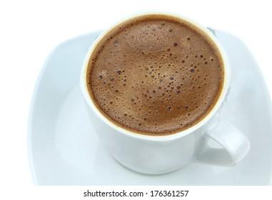 Foamy Turkish coffee