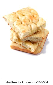 focaccia on a white background