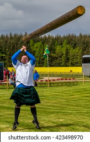 FOCHABERS, MORAY, SCOTLAND - 15 MAY: This is a participant within the Gordon Castle Highland Games which was held at their grounds at Fochabers, Moray, Scotland on 15 May 2016.