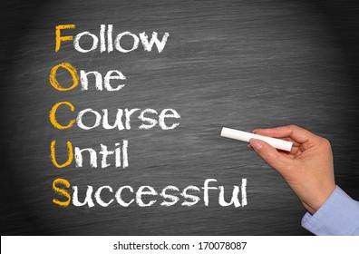 FOCUS - Business Success Concept