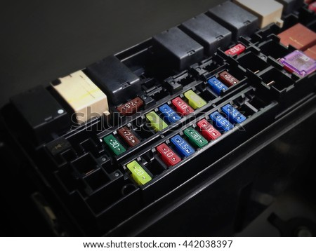 focus car fuse box low key stock photo (edit now) 442038397 Universal Automotive Fuse Box focus of car fuse box in low key light , control engine lighting of car