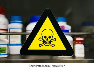 Focus at label toxic chemicals.