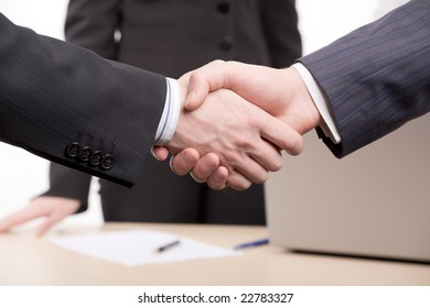 Focus is on  joining hands