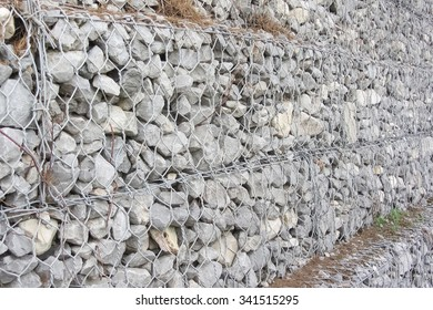 Focus on stacked gabions