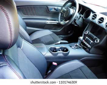 Focus Stacked Image of the Interior of a Modern American Made Sports Car