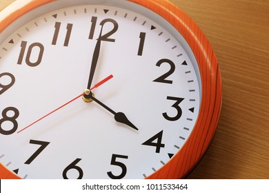 Focus time in clock of four o'clock for the design in your business concept and design in your work.
