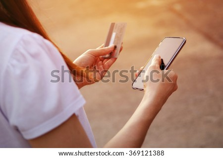 Focused Hands Using Mobile Smart Phone Stock Photo (Edit Now
