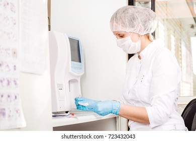 Focused Young Life Researcher Laboratory Equipment Stock