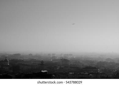 Fog and Airplane