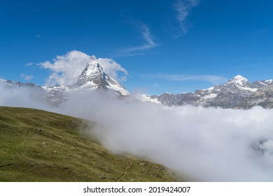 Fog coming up from the Matter Valley, Zermatt, Switzerland