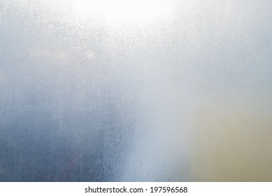 fog condensation on window glass
