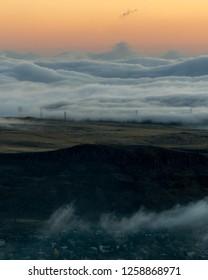 A fog inversion in Golden, Colorado.