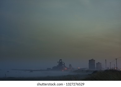 Fog and mist, South Gare at Redcar. North east of England.
