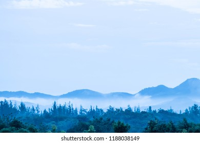 fog and mountain view at Khao yai Thailand.