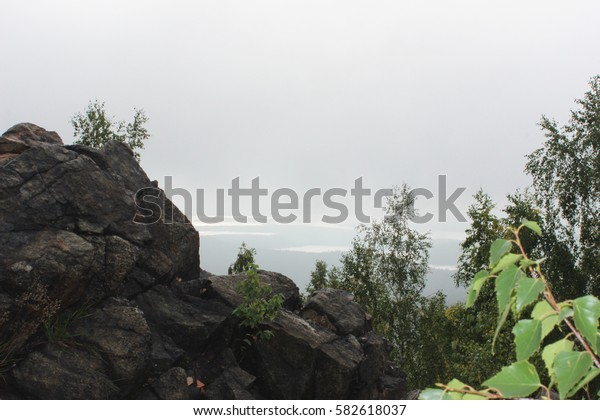 Fog in the mountains. Wonderful landscape