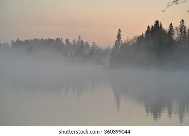 Fog on the lake, Falcon Lake, Manitoba
