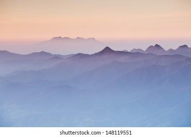 Fog on the mountain.