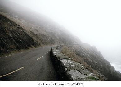 Fog on the mountain road