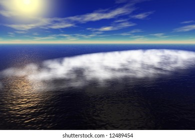 fog on the sea