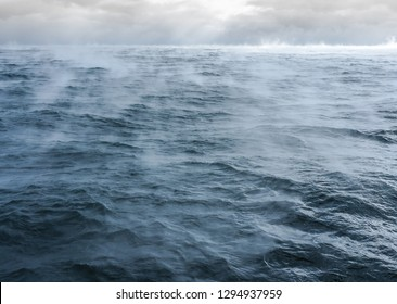 fog over extremely cold water in the Canadian Arctic, Northwest Passage