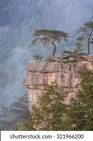 Fog rolling in at Buzzards Roost of Tennessee's Fall Creek Falls State Park.
