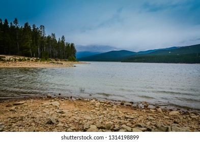 Fog rolling in on Turquoise Lake in the San Isabel National Forest.