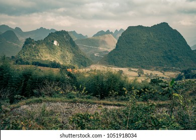 fog sweeps across the mountains of vietnam