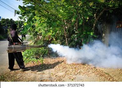 Fogging mosquito to prevent of dengue fever and  zika virus