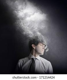 foggy businessman
