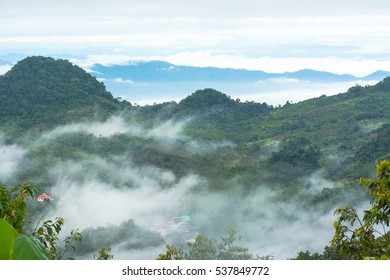 The foggy and clouds mountain.