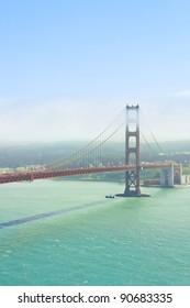 Foggy day at The Golden Gate Bridge in San Francisco, California