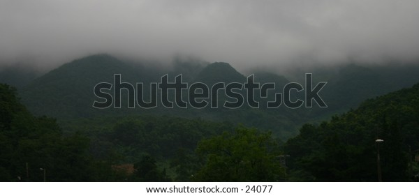 foggy day in mountains